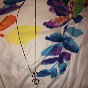 Never worn lucky lizard diamond necklace